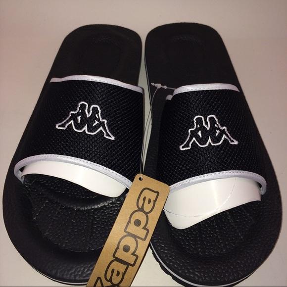 99aec880a9a0 Kappa Sandals Slides Black With Kappa Logo